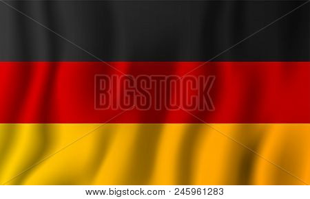 Germany Realistic Waving Flag Vector Illustration. National Country Background Symbol. Independence