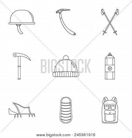 Highlander Icons Set. Outline Set Of 9 Highlander Vector Icons For Web Isolated On White Background
