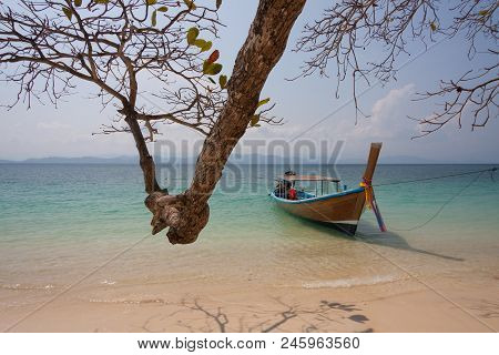 Traditional Thai Longtail Boat At  Phuket ,thailand