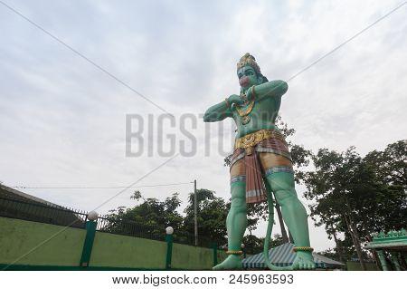 Hanuman Statue Is A Hindu God Which Is Located Beside Of The Batu Caves ,kuala Lumpur, Malaysia