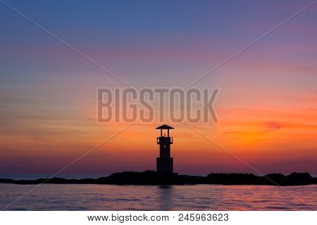 Lighthouse At Khao Lak Thailand In Twilight Time