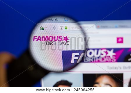 Ryazan, Russia - June 16, 2018: Homepage Of Famousbirthsays Website On The Display Of Pc, Url - Famo