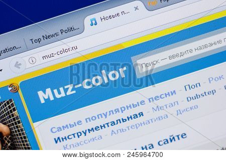 Ryazan, Russia - June 16, 2018: Homepage Of Muz-color Website On The Display Of Pc, Url - Muz-color.