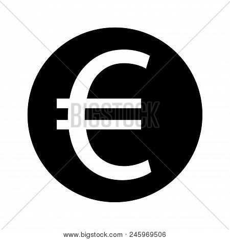 Euro Sign Icon Stock Vector Illustration. Eps 10