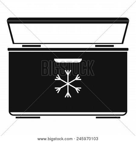 Ice Cream Refrigerator Icon. Simple Illustration Of Ice Cream Refrigerator Vector Icon For Web Desig