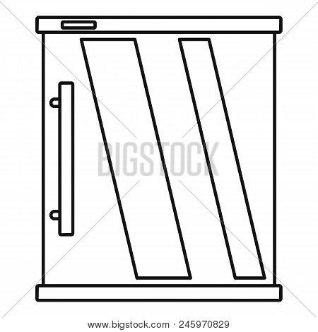 Mini Refrigerator Icon. Outline Illustration Of Mini Refrigerator Vector Icon For Web Design Isolate