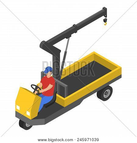 Bike Crane Icon. Isometric Of Bike Crane Vector Icon For Web Design Isolated On White Background