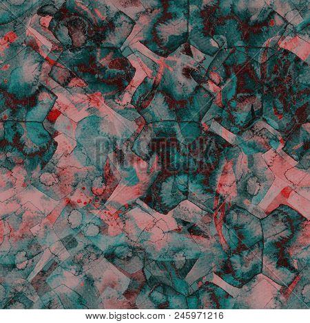 Watercolor ethnic seamless pattern. Tribal colorful paint brush print. Oriental watercolour bandana. Swimwear texture. Floral coachella seamless pattern. Distressed abstract artwork. poster