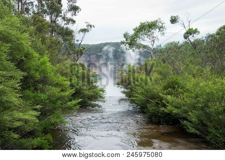 Govetts Leap Brook.  Blue Mountains In Australia.