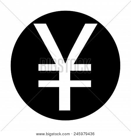 Yuán Sign Icon Stock Vector Illustration, Eps10