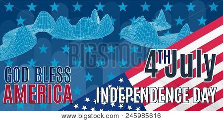A Bright Poster On The Seal Of Independence Day America. On Holiday Stock Vector Image