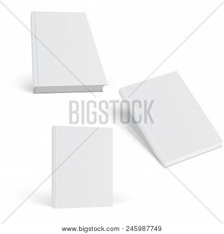 Closed Book, Cover. Mockup For The Cover Design. High Detail. Isolated On White Background