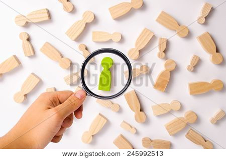 Wooden Figures Of People Are Lying On A White Background. Social Network. Business. The Concept Of H