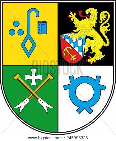 Coat Of Arms Of Rheinauen Is A Collective Municipality In The District Rhein-pfalz-kreis, In Rhinela