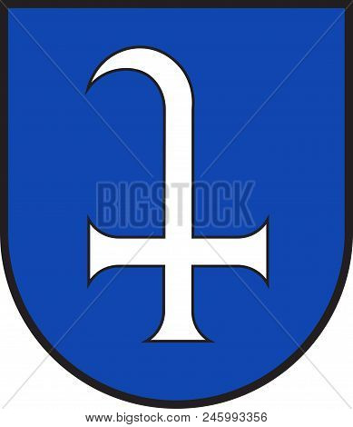Coat Of Arms Of Dudenhofen Is A Municipality In Rhineland-palatinate, Germany. Vector Illustration