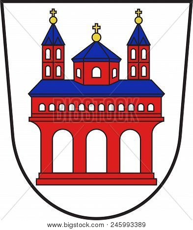 Coat Of Arms Of Speyer Is A Town In Rhineland-palatinate, Germany. Vector Illustration