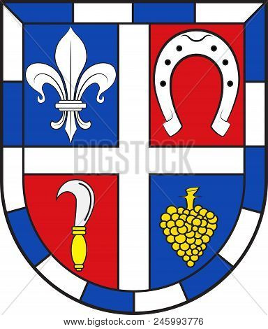 Coat Of Arms Of Edenkoben Is A Collective Municipality In The Suedliche Weinstrasse District, In Rhi