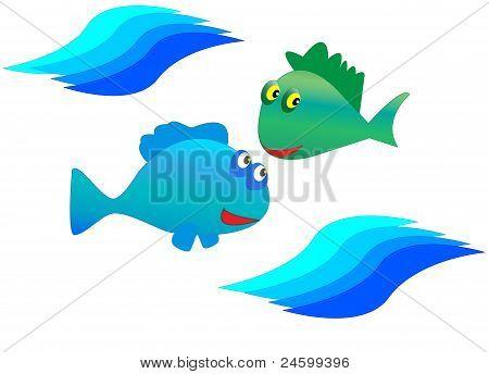 Cartoon's fishs