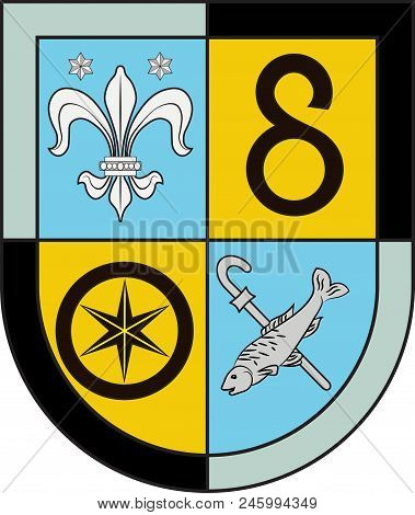Coat Of Arms Of Herxheim Is A Collective Municipality In The Suedliche Weinstrasse District, In Rhin