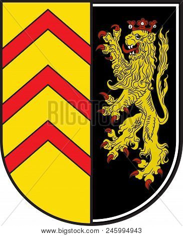 Coat Of Arms Of Suedwestpfalz Is A District In The South Of Rhineland-palatinate, Germany. Vector Il