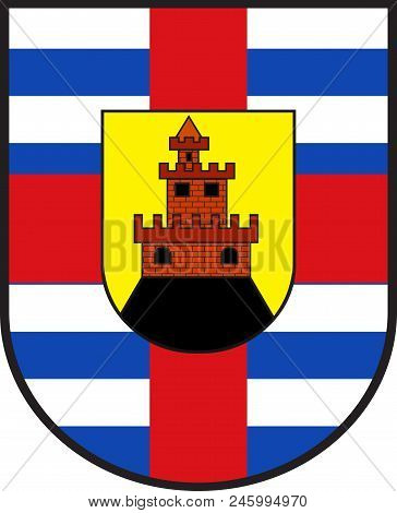 Coat Of Arms Of Trier-saarburg Is A District In The West Of Rhineland-palatinate, Germany. Vector Il
