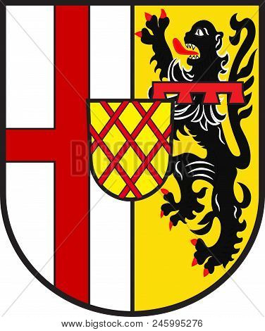 Coat Of Arms Of Vulkaneifel Is A District In The Northwest Of The State Rhineland-palatinate, German