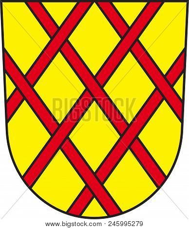 Coat Of Arms Of Daun Is A Town In The Vulkaneifel District In Rhineland-palatinate, Germany. Vector