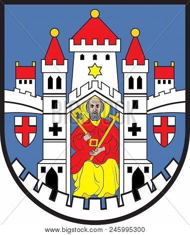 Coat Of Arms Of Montabaur Is A Town And The District Seat Of The Westerwaldkreis In Rhineland-palati