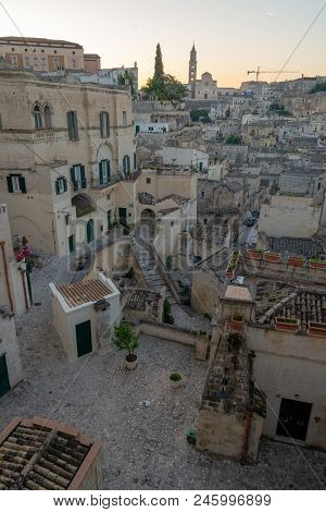 European Capital Of Culturein 2019 Year, Ancient City Of Matera, Capital Of Basilicata, Southern It