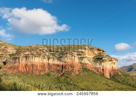 The Mushroom Rock At Golden Gate In The Free State Province Of South Africa