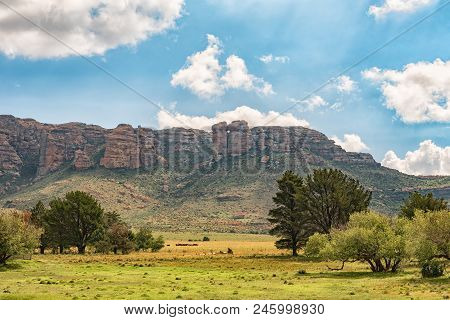 A View Of Aasvoelberg (vulture Mountain) At Zastron In The Free State Province Of South Africa. The