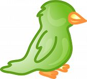 Illustration of a pet parrot icon that can be used as a symbol bullet button or design element. poster