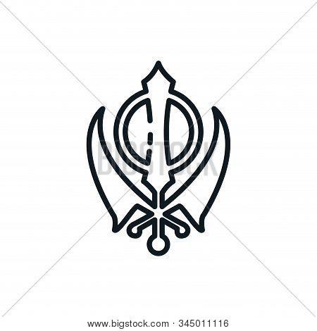 Sikhism Kandha Symbol Design, Religion Culture Belief Religious Faith God Spiritual Meditation And T