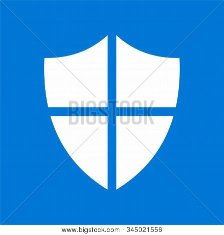 Shielded Security Logos For The Web, Logos And Applications With White Backgrounds