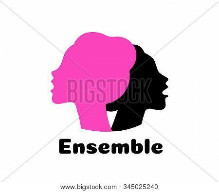 Choir Logo Vector Illustration. Singing People, Music.