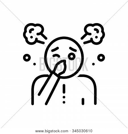 Black Line Icon For Funk Stink Fetor Malodor Mephitis Smell