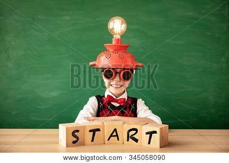 Bright New Idea Concept. Back To School