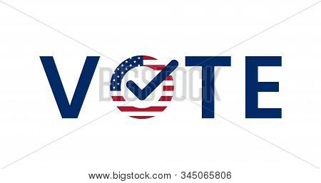 Us American Presidential Election, Voting. Vote Word