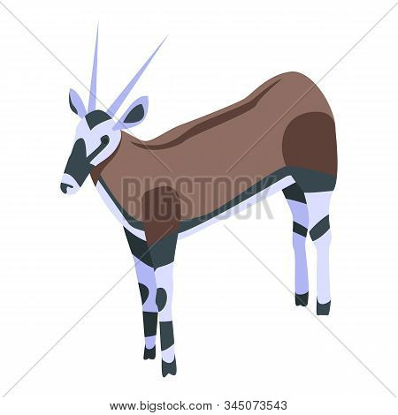African Doe Icon. Isometric Of African Doe Vector Icon For Web Design Isolated On White Background