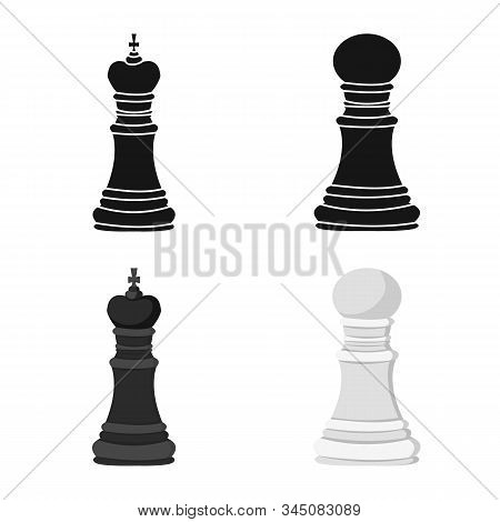 Isolated Object Of Checkmate And Thin Sign. Set Of Checkmate And Target Stock Vector Illustration.