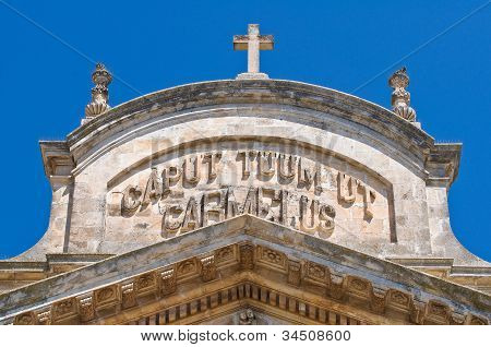 Church of Carmine. Ostuni. Puglia. Italy.