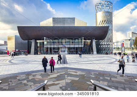 2 November 2018: Salford Quays, Manchester, Uk - The Lowry, The Gallery And Museum Complex Celebrati