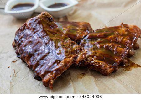 Homemade Baby Pork Ribs With Bbq Sauce