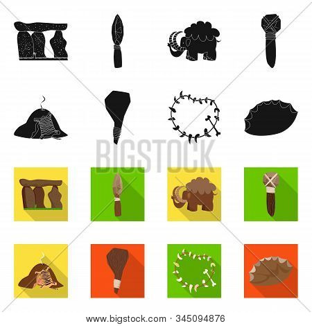 Isolated Object Of Evolution And Prehistory Logo. Collection Of Evolution And Development Stock Symb