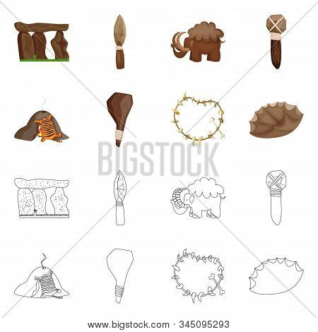 Isolated Object Of Evolution And Prehistory Icon. Set Of Evolution And Development Vector Icon For S