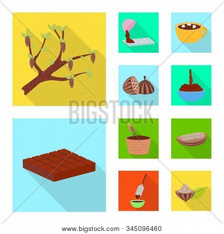 Isolated Object Of Treat And Product Symbol. Set Of Treat And Yummy Stock Symbol For Web.