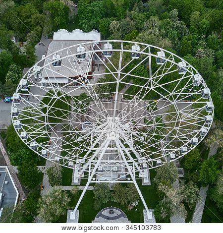 Landmark Ferris Wheel One Sky , New Attraction Of The City, Aerial View. Rostov-on-don. Russia.