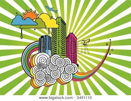 City Vector Composition