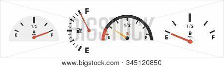 Set Of Fuel Gauge Scales. Fuel Meter. Fuel Indicator. Gas Tank Gauge. Oil Level Tank Bar Meter. Coll