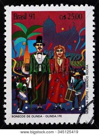 Brazil - Circa 1991: A Stamp Printed In Brazil From The